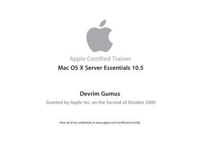 Apple Certified Trainer Mac OS X Server Essentials 10.5