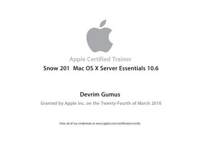 Apple Certified Trainer Snow 201 10.6