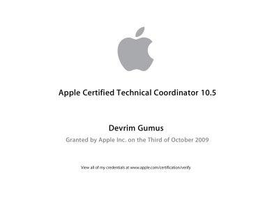 Apple Certified Technical Coordinator 10.5