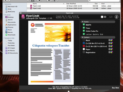 Adobe InDesign QuickLook