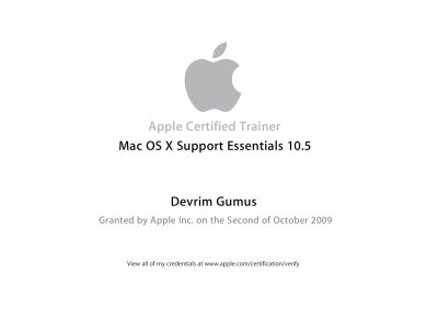 Apple Certified Trainer Mac OS X Support Essentials 10.5