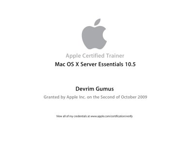 Apple Certified Trainer Mac OS X Server Essentials 10.5