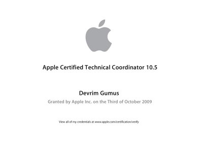 Apple Certified Technical Coordinator 10.5