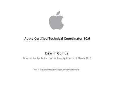 Apple Certified Technical Coordinator 10.6
